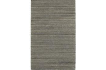96X120 Rug-Karina Charcoal Wool Stripe