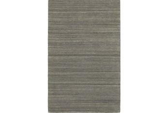 8'x10' Rug-Karina Charcoal Wool Stripe