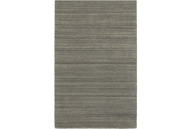 96X120 Rug-Karina Charcoal Wool Stripe - 360