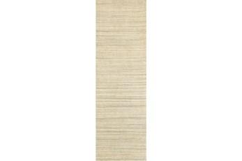 30X96 Rug-Karina Natural Wool Stripe