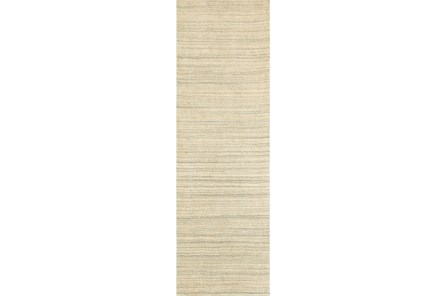 30X96 Rug-Karina Natural Wool Stripe