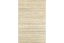 120X156 Rug-Karina Natural Wool Stripe