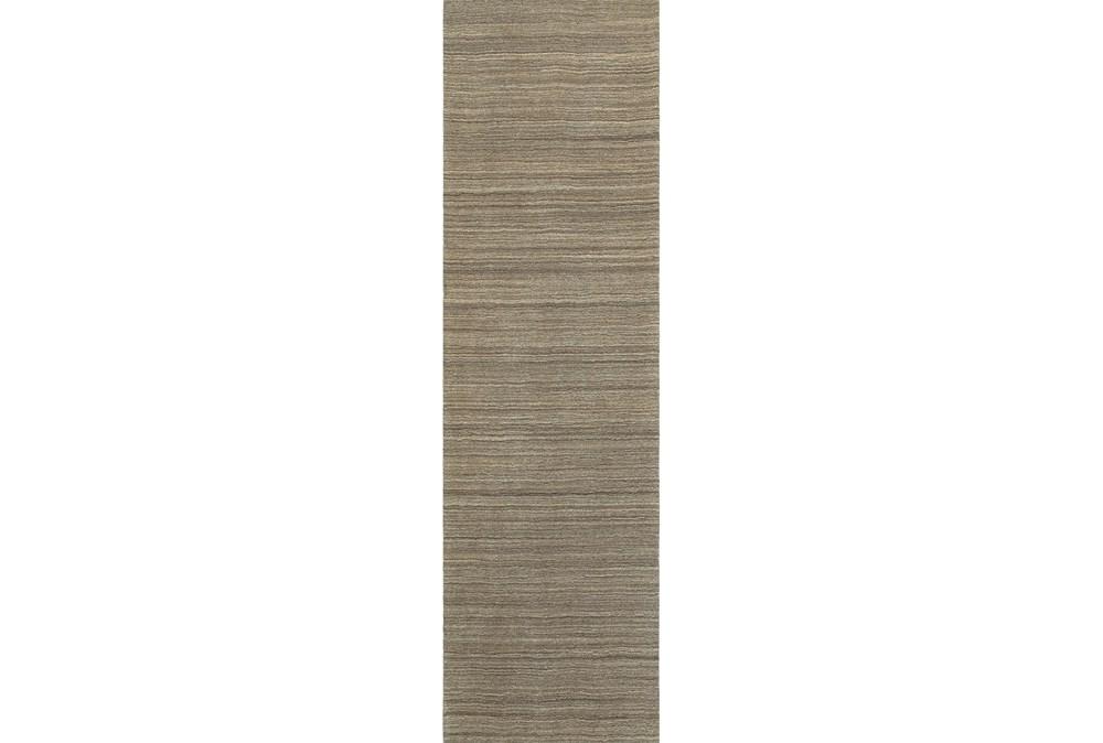 """2'5""""x8' Rug-Karina Mocha Wool Stripe"""
