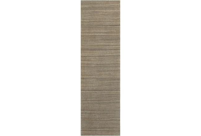 30X96 Rug-Karina Mocha Wool Stripe - 360
