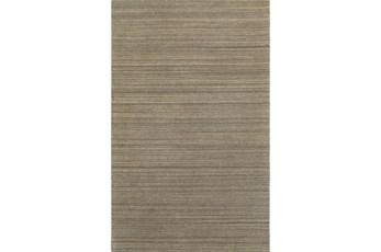 """3'5""""x5'5"""" Rug-Karina Mocha Wool Stripe"""