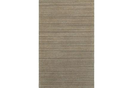 42X66 Rug-Karina Mocha Wool Stripe
