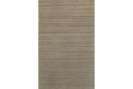 96X120 Rug-Karina Mocha Wool Stripe