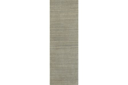 30X96 Rug-Karina Grey Wool Stripe