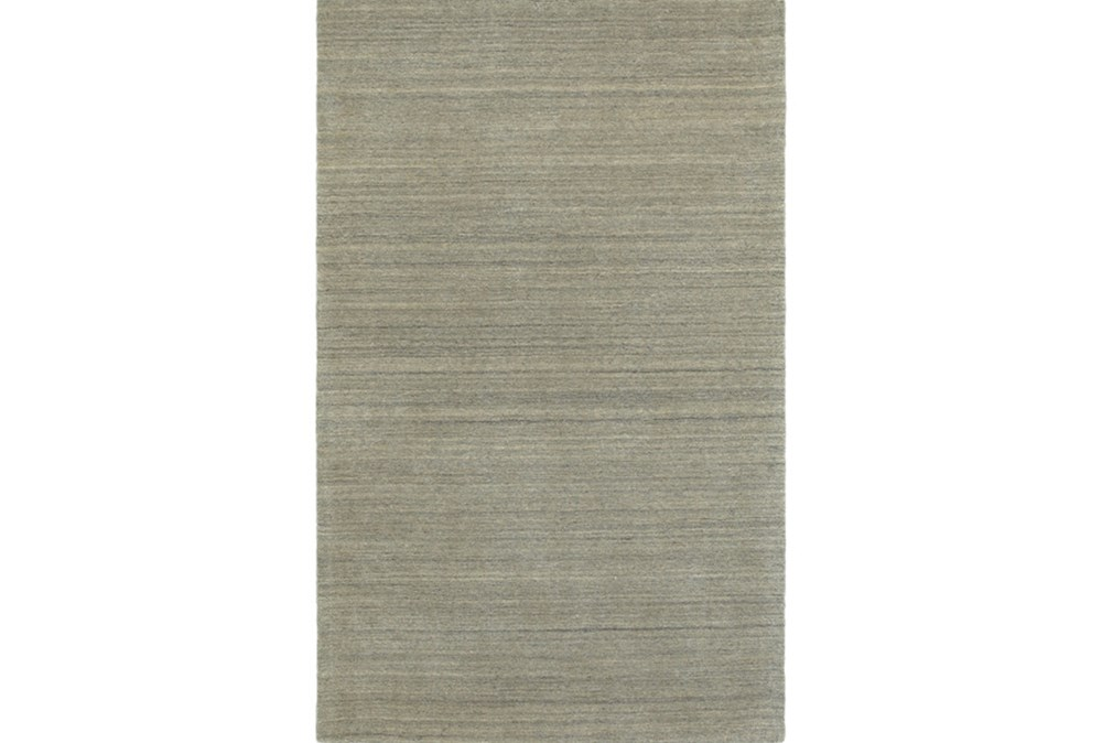 "3'5""x5'5"" Rug-Karina Grey Wool Stripe"
