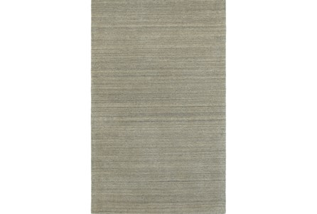 60X96 Rug-Karina Grey Wool Stripe