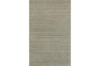 96X120 Rug-Karina Grey Wool Stripe