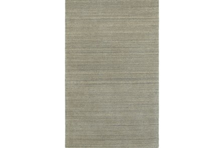 96X120 Rug-Karina Grey Wool Stripe - Main