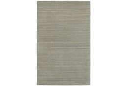 120X156 Rug-Karina Grey Wool Stripe