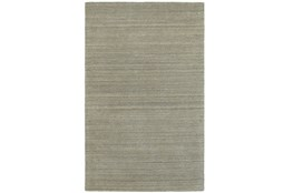 120X156 Rug-Karina Grey Wool Stripe