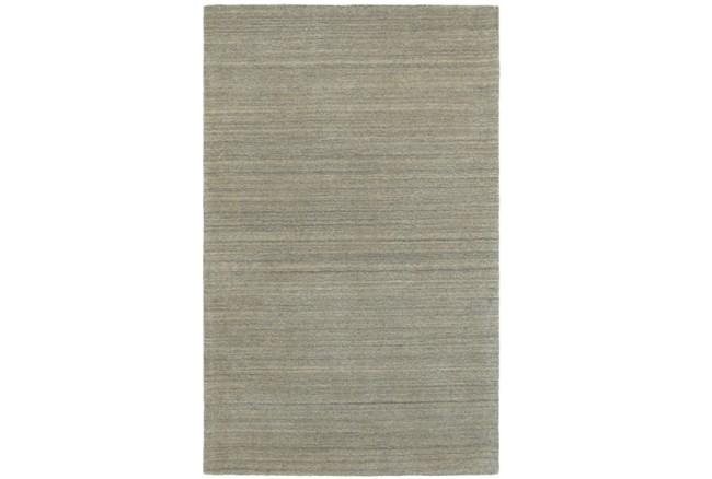 120X156 Rug-Karina Grey Wool Stripe - 360