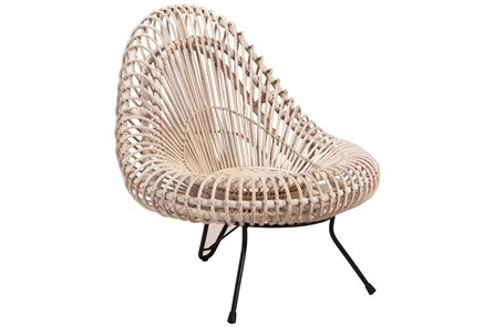 Rattan Iron Chair