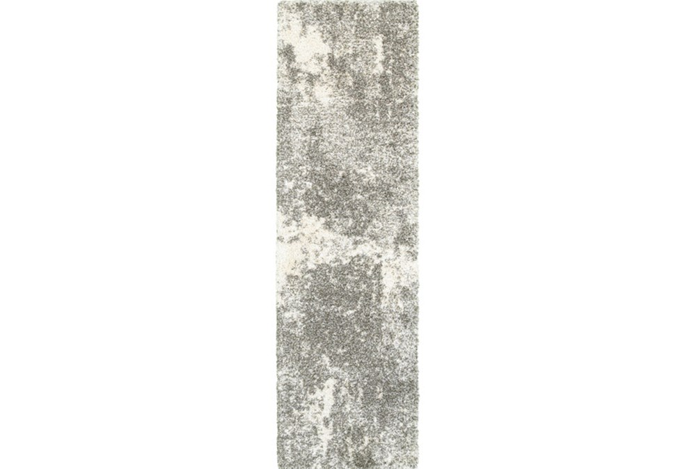 "2'3""x7'5"" Rug-Beverly Shag Lt Grey Faded"