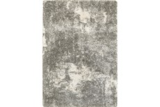 79X114 Rug-Beverly Shag Lt Grey Faded