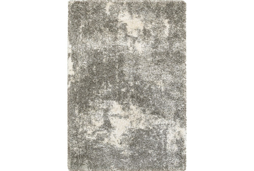 "7'8""x10'8"" Rug-Beverly Shag Lt Grey Faded"