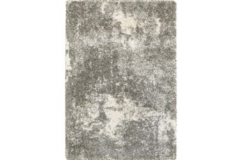 118X154 Rug-Beverly Shag Lt Grey Faded