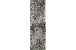 "2'3""x7'5"" Rug-Beverly Shag Graphite Faded"