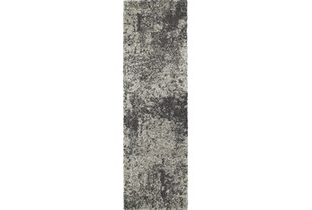 """2'3""""x7'5"""" Rug-Beverly Shag Graphite Faded"""