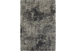 """3'8""""x5'4"""" Rug-Beverly Shag Graphite Faded"""