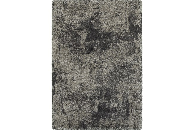 """3'8""""x5'4"""" Rug-Beverly Shag Graphite Faded - 360"""