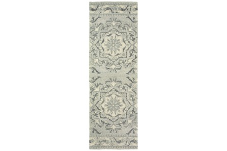 30X96 Rug-Tinley Grey Bands
