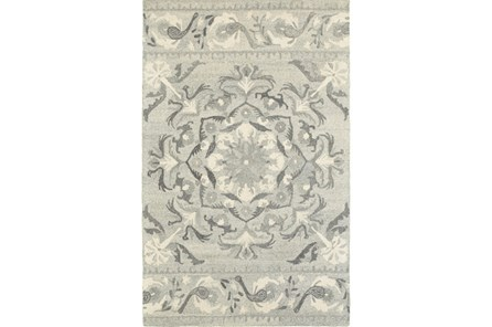 96X120 Rug-Tinley Grey Bands - Main
