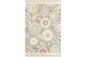 10'x13' Rug-Tinley Stylized Floral Grey