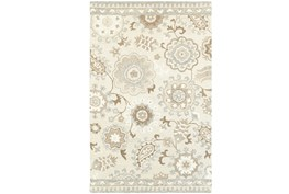 30X96 Rug-Tinley Stylized Floral Taupe