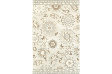60X96 Rug-Tinley Stylized Floral Taupe