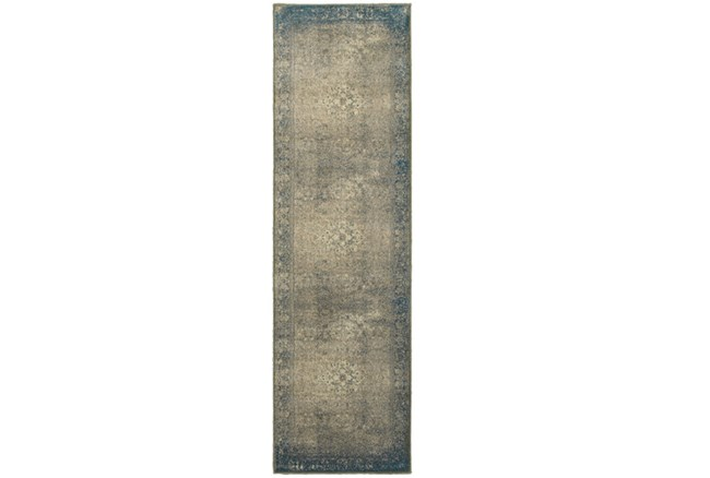 27X90 Rug-Bastile Faded Grey - 360