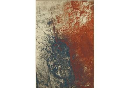 79X114 Rug-Azaiah Orange/Blue