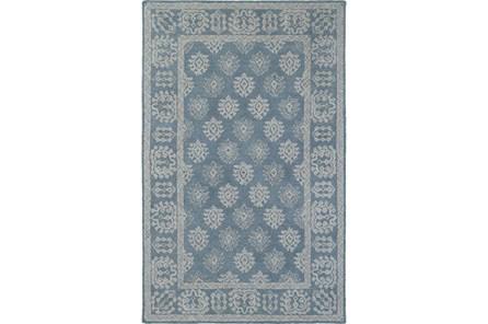 60X96 Rug-Agatha Printblock Blue