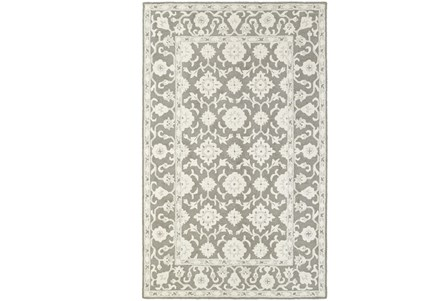 42X66 Rug-Agatha Medallion Grey