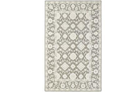 96X120 Rug-Agatha Medallion Grey - Main