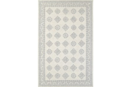 96X120 Rug-Agatha Diamonds Grey - Main
