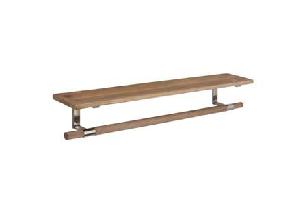39 Inch Wood And Metal  Shelf