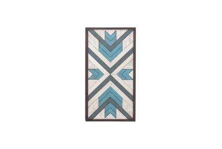 43 Inch Blue Wood Wall Decor