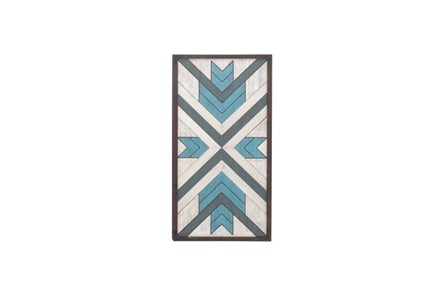 43 Inch Blue Wood Wall Decor - Main