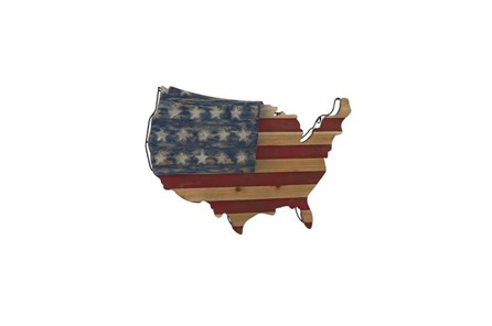 22 Inch America Wood Wall Decor - Main