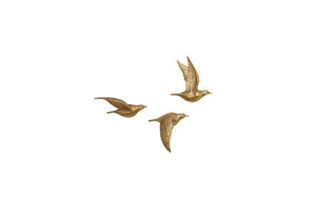 3 Piece Set Stone Bird Wall Decor - Main