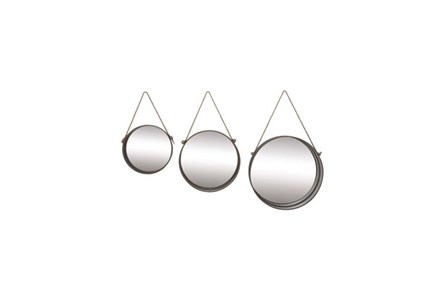 3 Piece Set Metal Rope Mirror