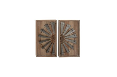 2 Piece Set Mixed Media Wall Panel - Main