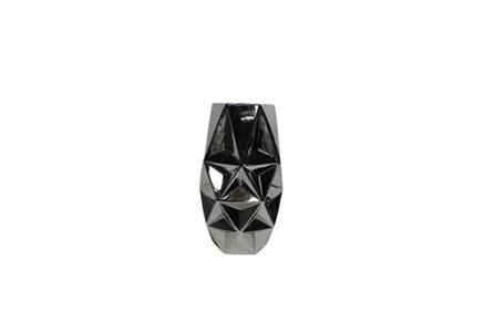 16 Inch Porcelain Silver Vase