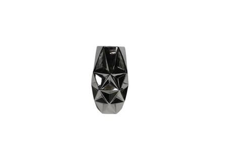 16 Inch Porcelain Silver Vase - Main