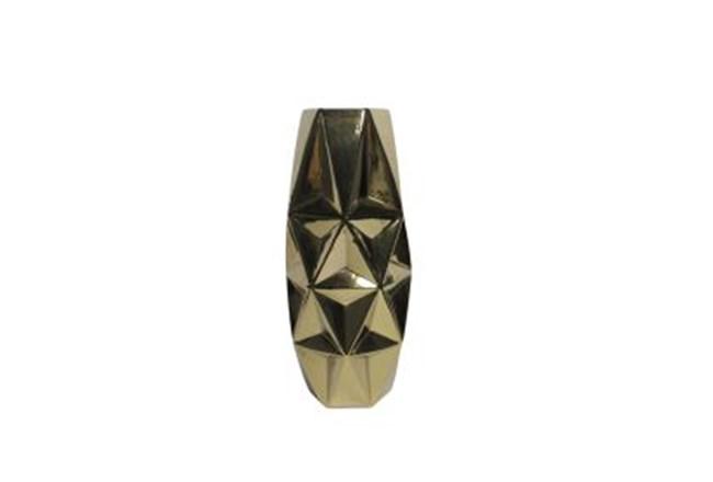 20 Inch Porcelain Gold Vase - 360