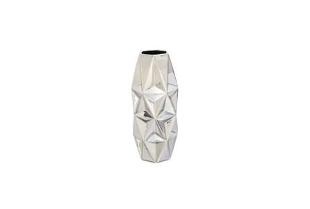 20 Inch Porcelain Silver Vase